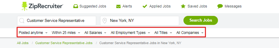 How To Use Filters in Your Job Searches