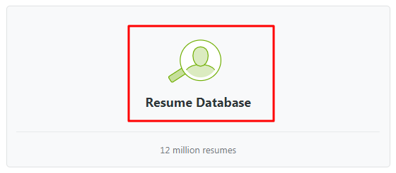 what is a resume database view